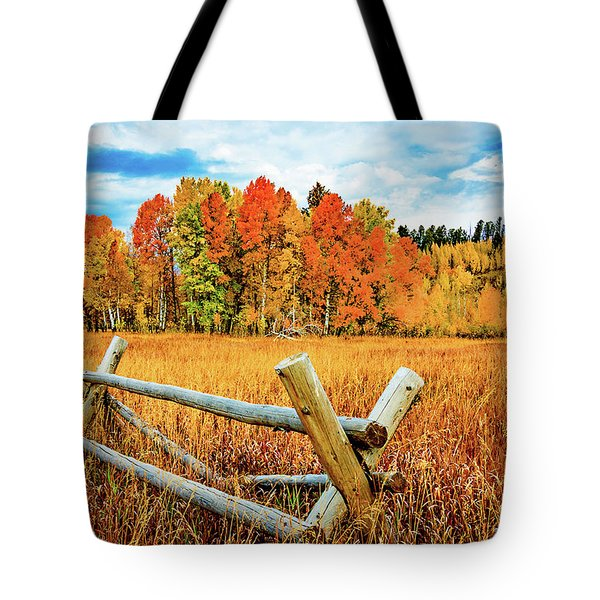 Oxbow Bend Fall Color Tote Bag
