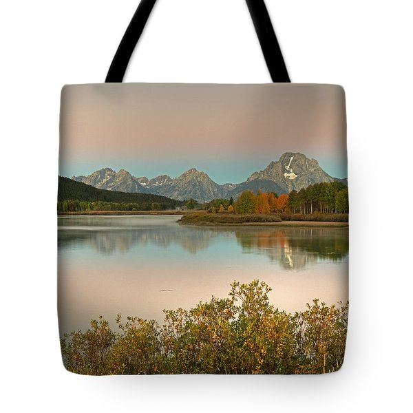 Tote Bag featuring the photograph Oxbow Bend by Gary Lengyel