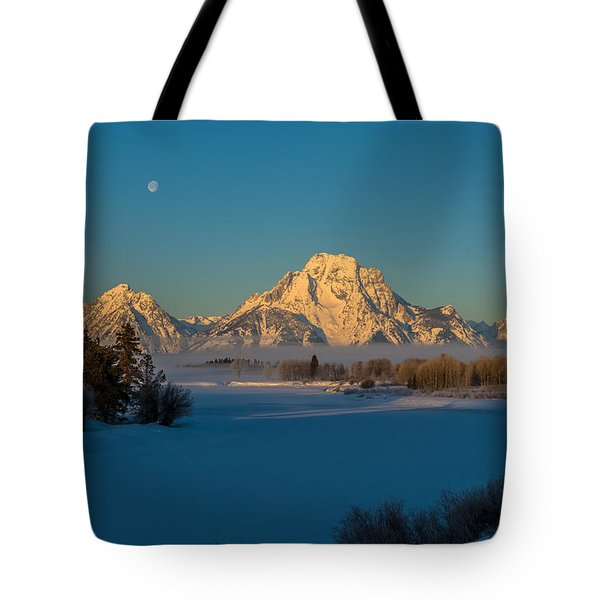 Oxbow Bend In Late Winter Tote Bag