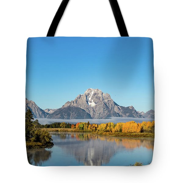 Oxbow Bend Reflecting Tote Bag by Mary Hone