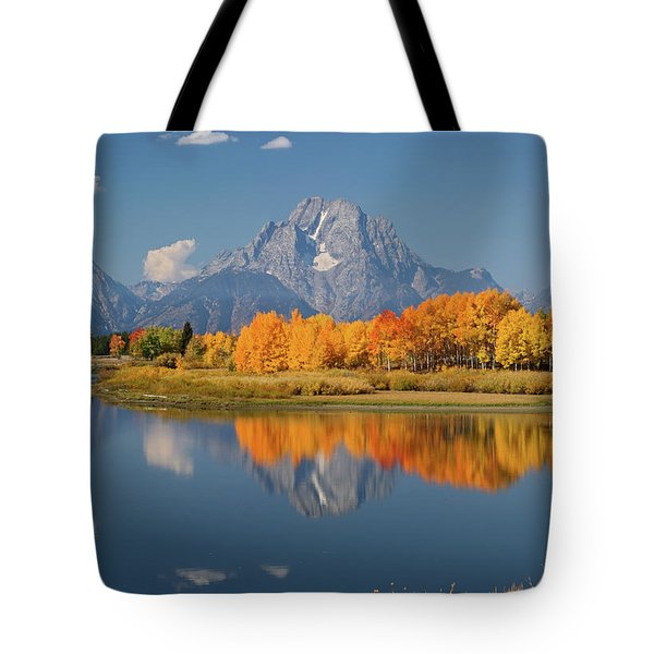 Oxbow Bend Reflection Tote Bag