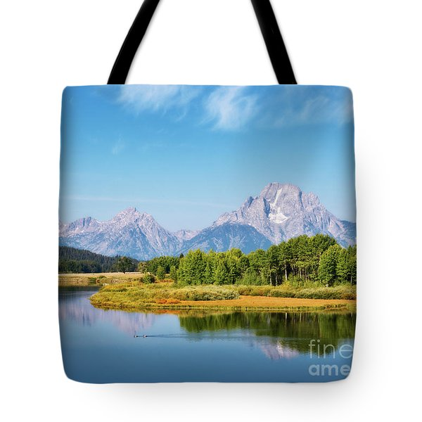 Tote Bag featuring the photograph Oxbow Bend by Sharon Seaward