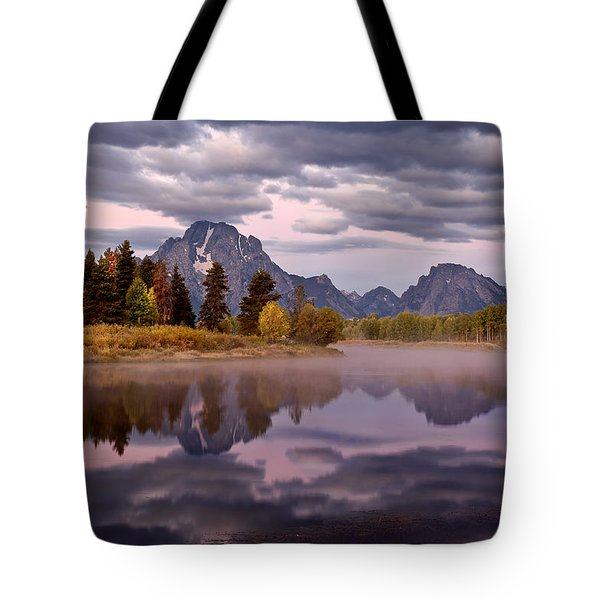 Tote Bag featuring the photograph Oxbow by John Gilbert