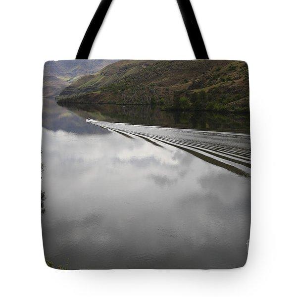 Oxbow Reservoir Wake Tote Bag by Idaho Scenic Images Linda Lantzy