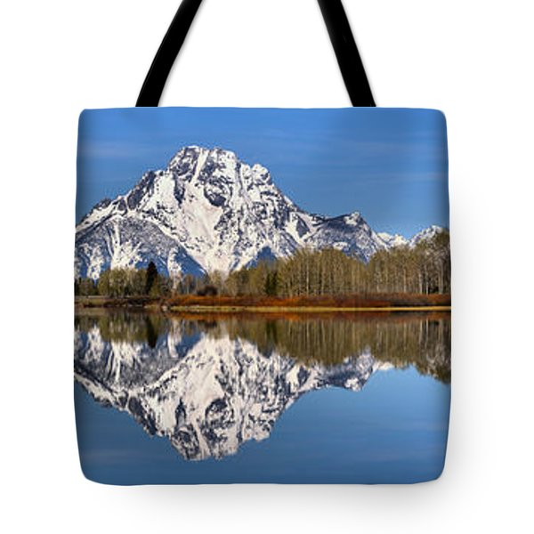 Oxbow Snake River Reflections Tote Bag by Adam Jewell