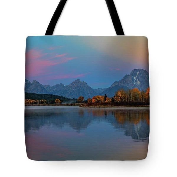 Oxbows Reflections Tote Bag by Edgars Erglis