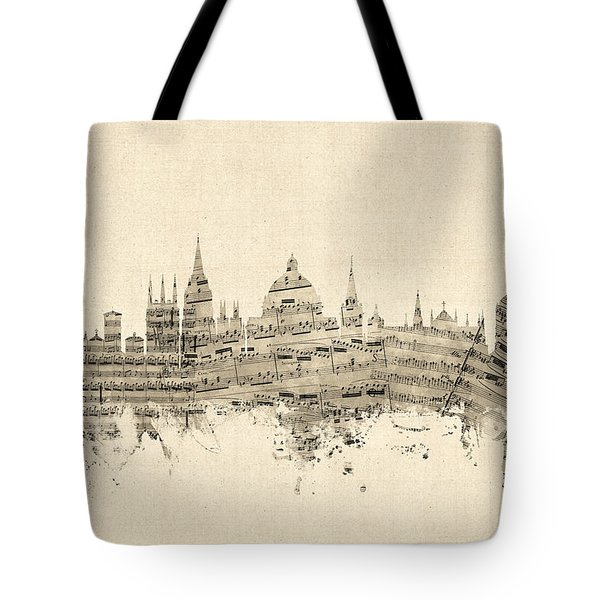 Oxford England Skyline Sheet Music Tote Bag