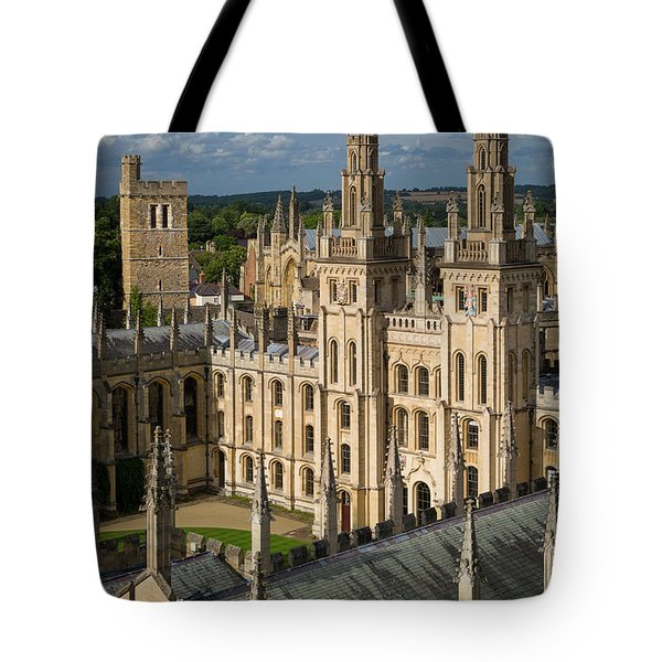Tote Bag featuring the photograph Oxford Spires by Brian Jannsen