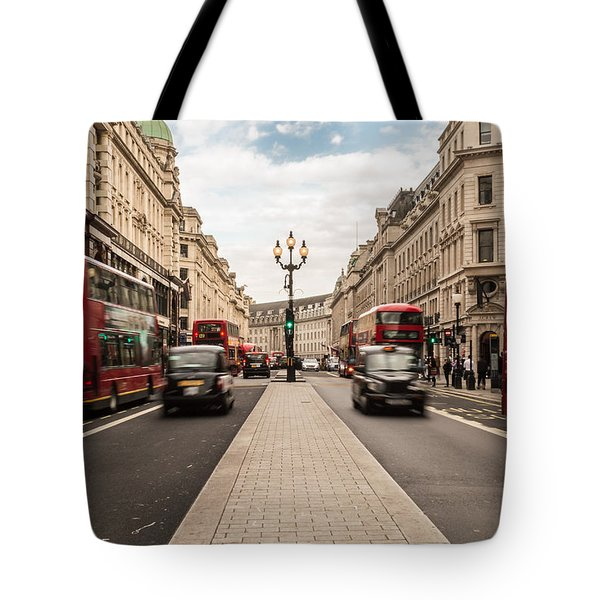 Oxford Street In London Tote Bag