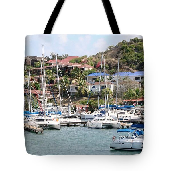Tote Bag featuring the photograph Oyster Bay Marina by Margaret Bobb