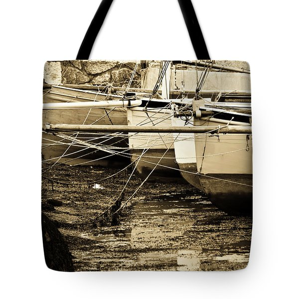 Oyster Boats Laid Up At Mylor Tote Bag by Brian Roscorla