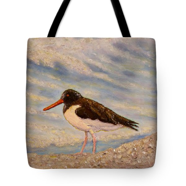 Tote Bag featuring the painting Oyster Catcher by Joe Bergholm