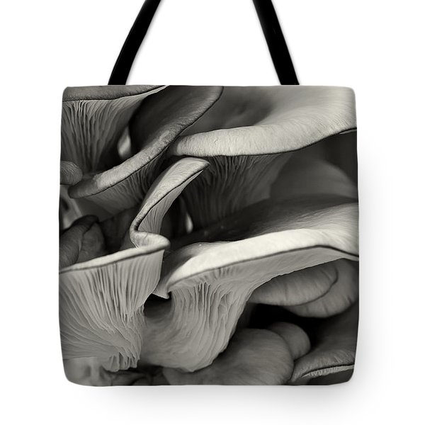 Oyster Mushroom Abstract Lv Tote Bag by Shirley Mitchell