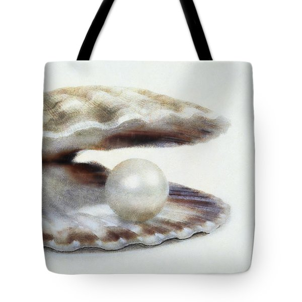 Oyster With Pearl Tote Bag