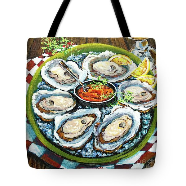 Oysters On The Half Shell Tote Bag