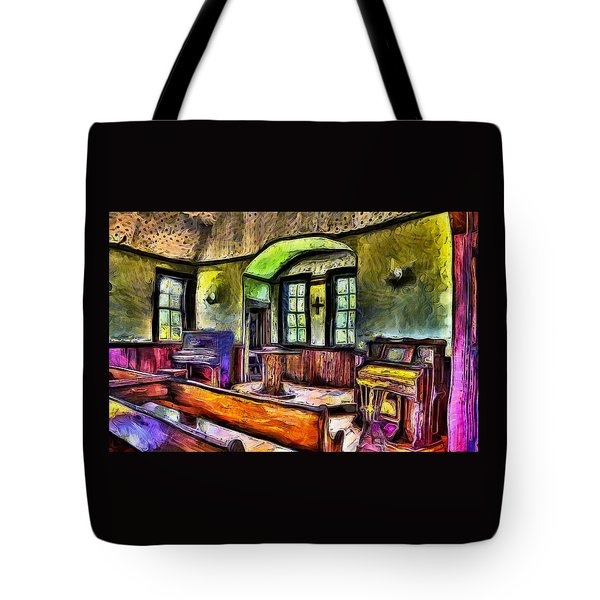 Oysterville Church Interior Tote Bag
