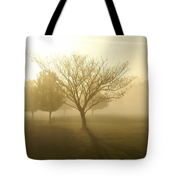 Ozarks Misty Golden Morning Sunrise Tote Bag