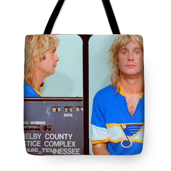 Ozzy Osbourne Mug Shot Color Horizontal Tote Bag