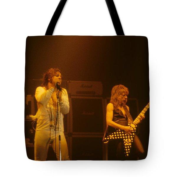 Ozzy Ozbourne And Randy Rhoads Tote Bag