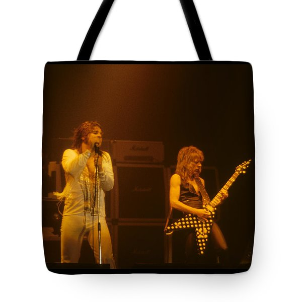 Ozzy Ozbourne And Randy Rhoads Tote Bag