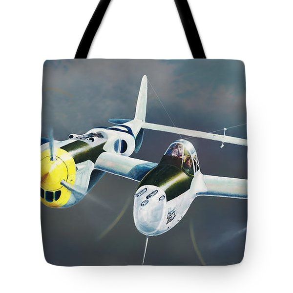 P-38 On The Prowl Tote Bag
