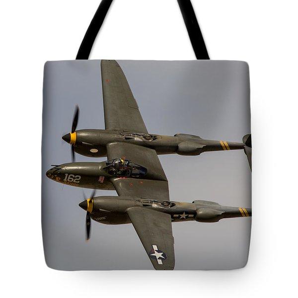 P-38 Skidoo Tote Bag