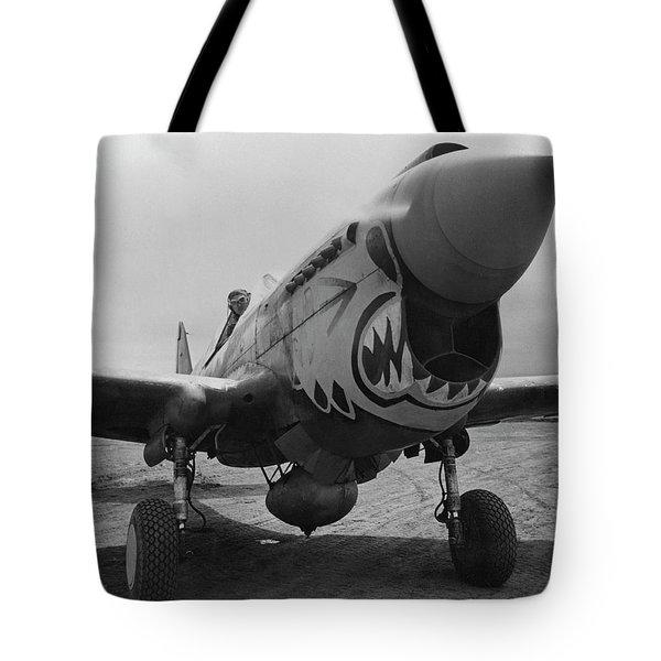 P-40 Warhawk - Flying Tiger Tote Bag