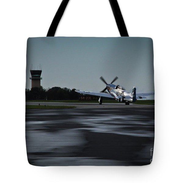 Tote Bag featuring the photograph P-51  by Douglas Stucky