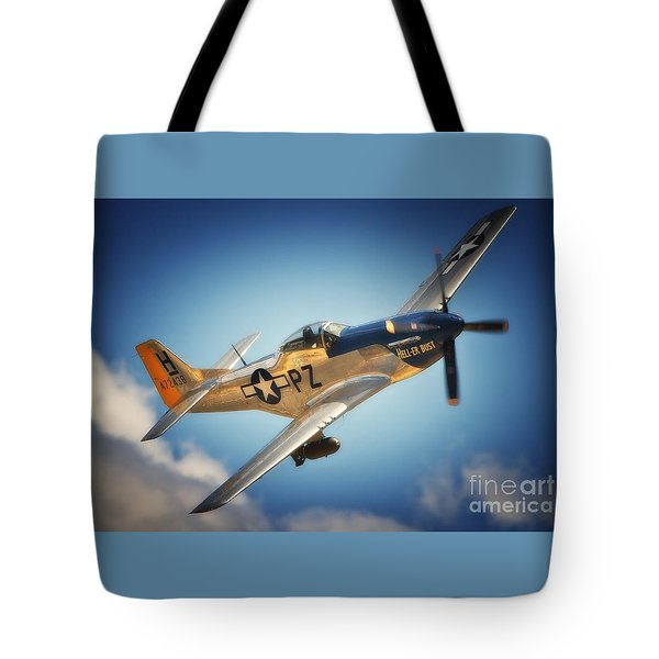 P-51 Mustang Hell Er Bust Tote Bag