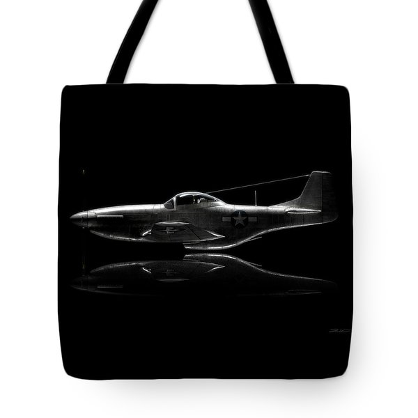 P-51 Mustang Profile Tote Bag by David Collins