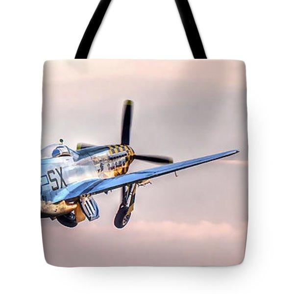 P-51 Mustang Taking Off Tote Bag