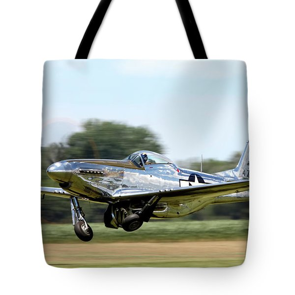 P-51 Takeoff Tote Bag