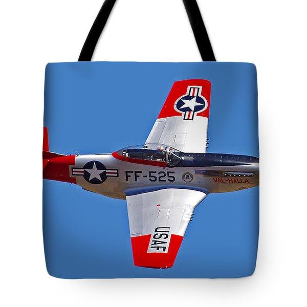 P-51d Mustang Flyby Tote Bag