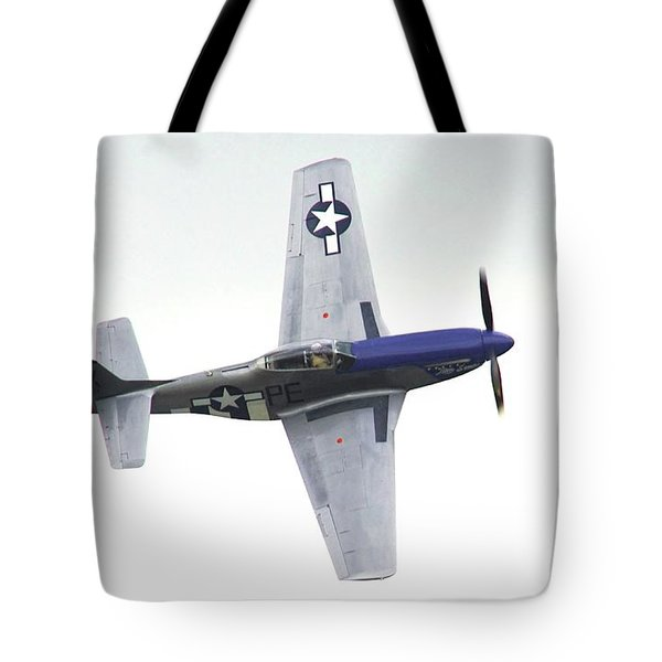 P-51 D Wing Over Tote Bag
