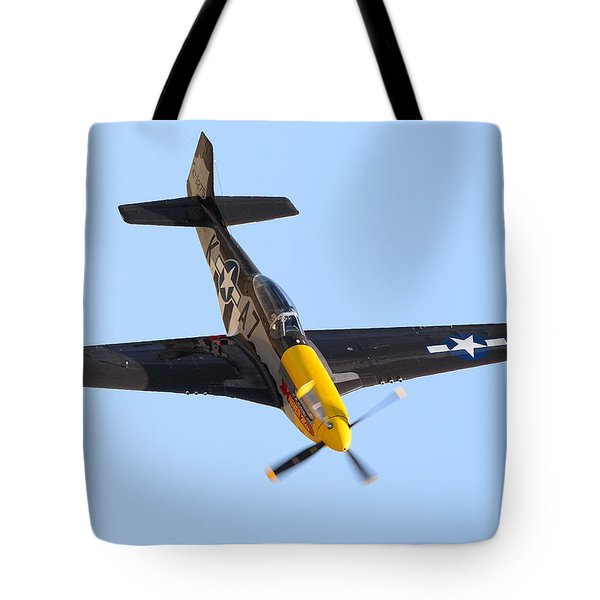 Tote Bag featuring the photograph P-57 Mustang by Stephen Flint