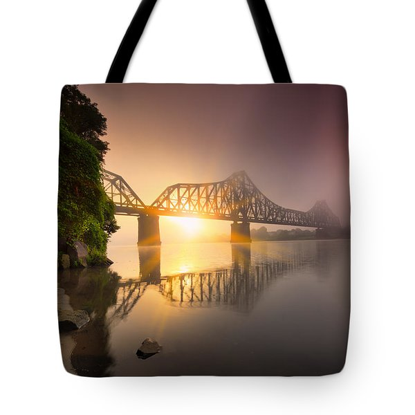 P And Le Ohio River Railroad Bridge Tote Bag