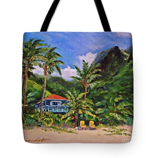 Tote Bag featuring the painting P F by Jennifer Beaudet