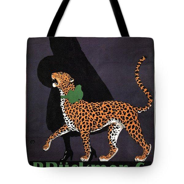 P Ruckmar And Co, Zurich - Switzerland - Lady, Cheetah, Fur Jacket - Vintage Fashion Advertisement Tote Bag