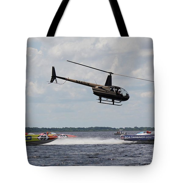 Tote Bag featuring the photograph P1 Powerboats by David Grant