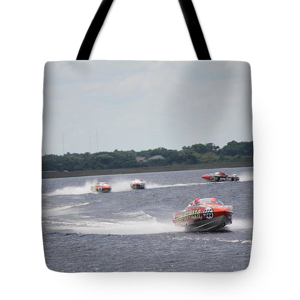 Tote Bag featuring the photograph P1 Powerboats Orlando 2016 by David Grant