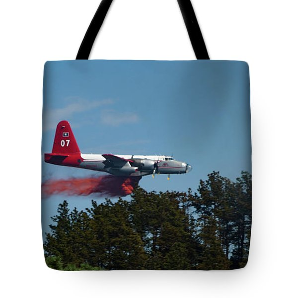 P2v Red Canyon Fire Tote Bag