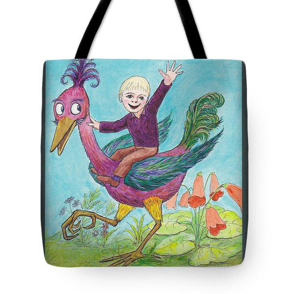 P3 Bird Boy Tote Bag by Charles Cater