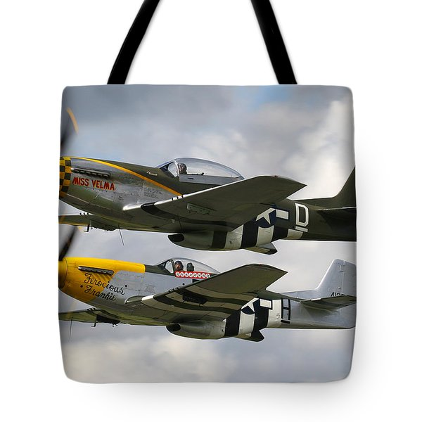 P51 Mustangs Tote Bag