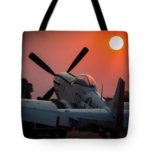 P51 Sunset Tote Bag