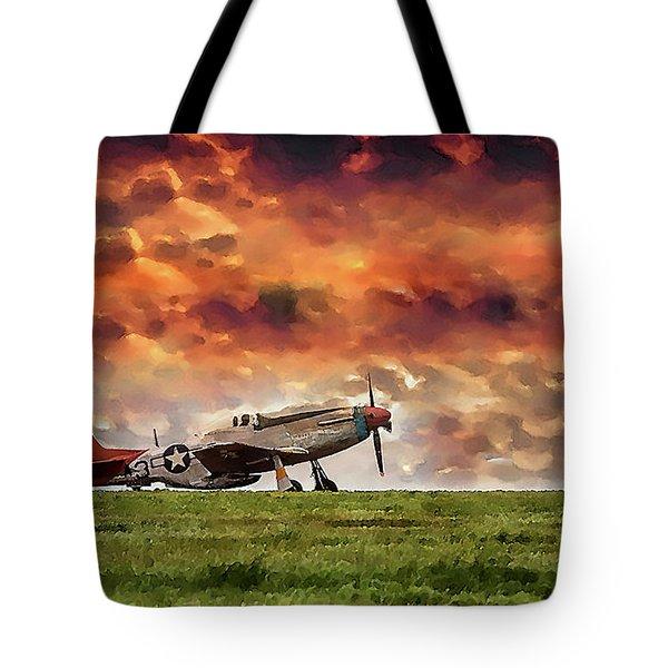 P51 Warbird Tote Bag