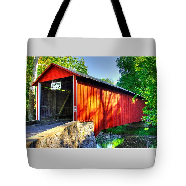 Pa Country Roads - Witherspoon Covered Bridge Over Licking Creek No. 4b - Franklin County Tote Bag