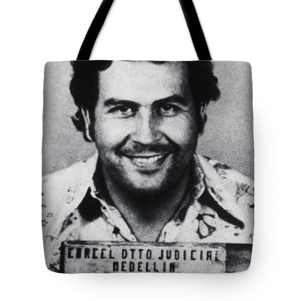 Pablo Escobar Mug Shot 1991 Vertical Tote Bag