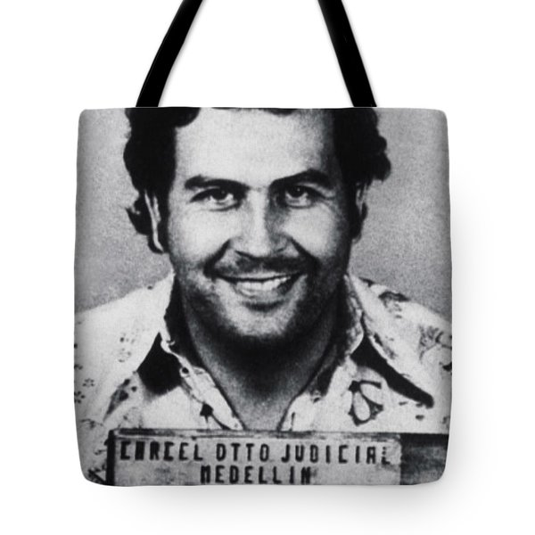 Pablo Escobar Mug Shot 1991 Vertical Tote Bag
