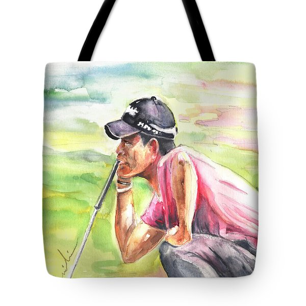 Pablo Larrazabal Winning The Bmw Open In Germany In 2011 Tote Bag by Miki De Goodaboom