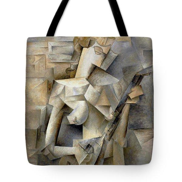 Pablo Picasso Girl With A Mandolin 1910 Tote Bag